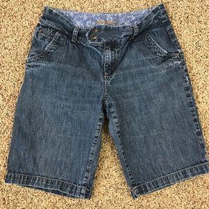 Eddie Bauer Denim Jean Shorts Long Inseam